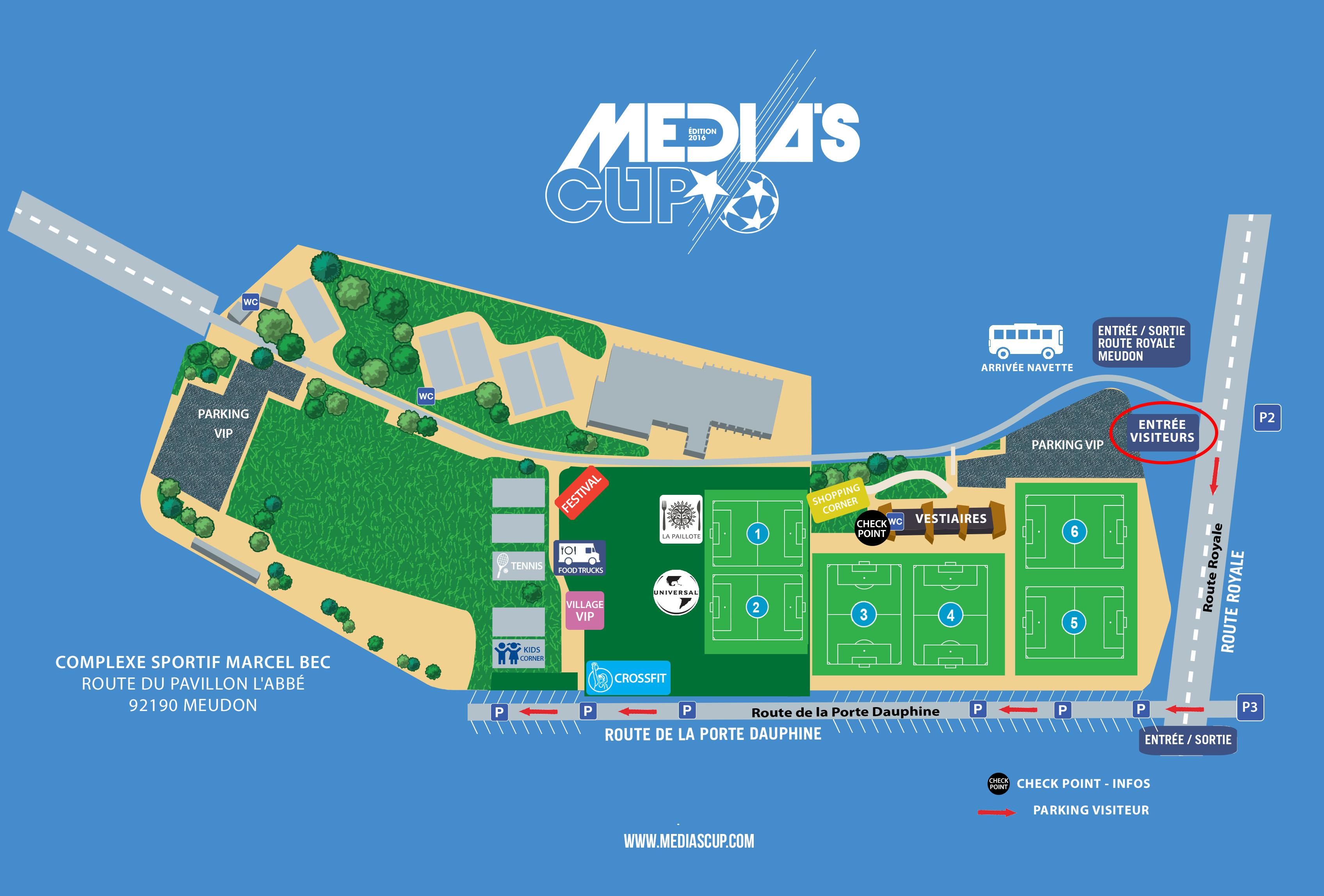 Plan de la Media's Cup