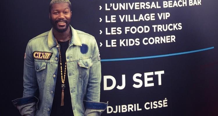 Djibril Cissé à l'entrée de L'opening Party