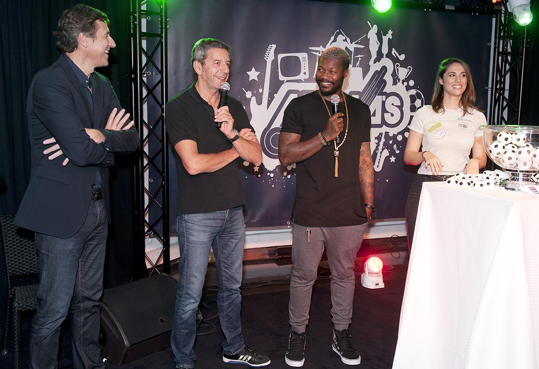 Tirage au sort de l'Opening Party : Frédéric Houzelle, Michel Cymes, Djibril Cissé et Charlotte Namura