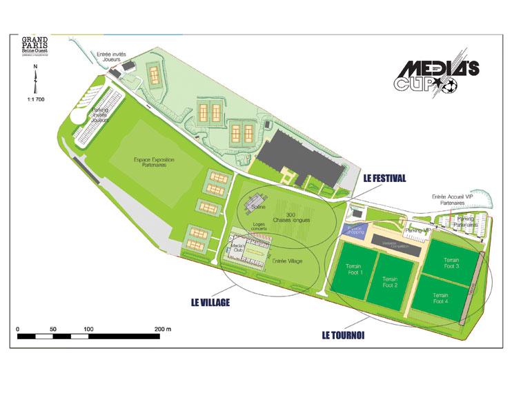 Plan du Stade Marcel Bec - Media's Cup