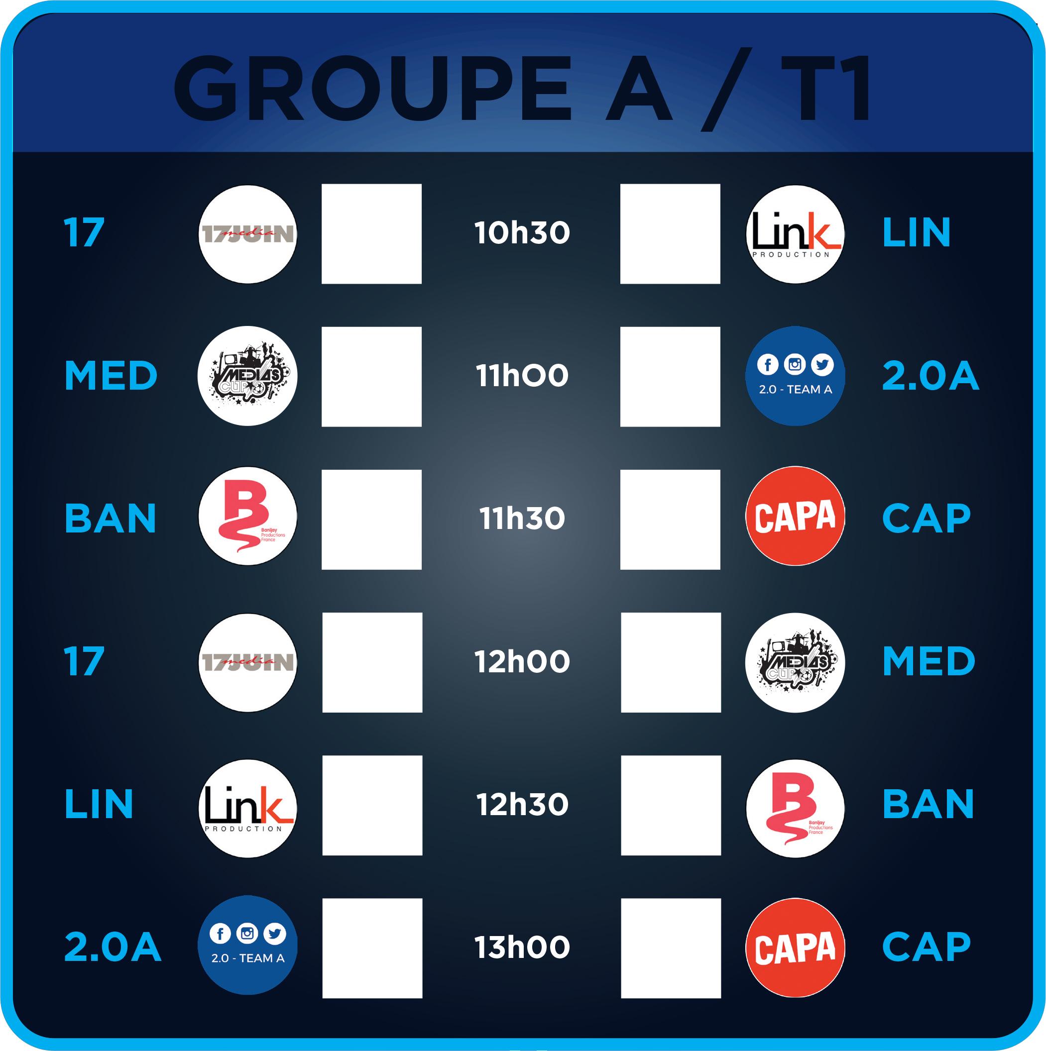 Les Matchs du Groupe A - Terrain 1