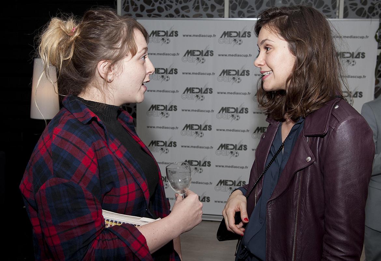 Adelyne Fontaine (STUDIO 89) et Émeline Pape (Atlantis Télévision)